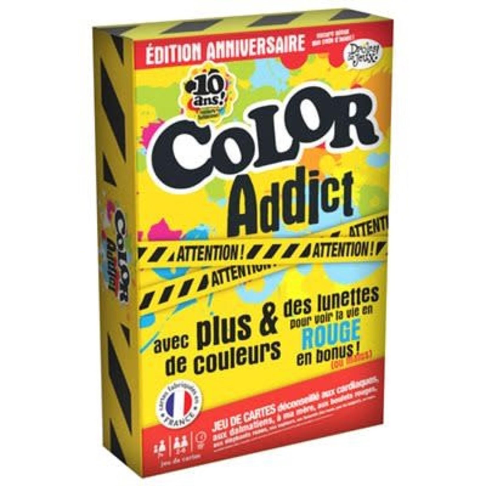 France Cartes Color Addict edition limitee 10 ans