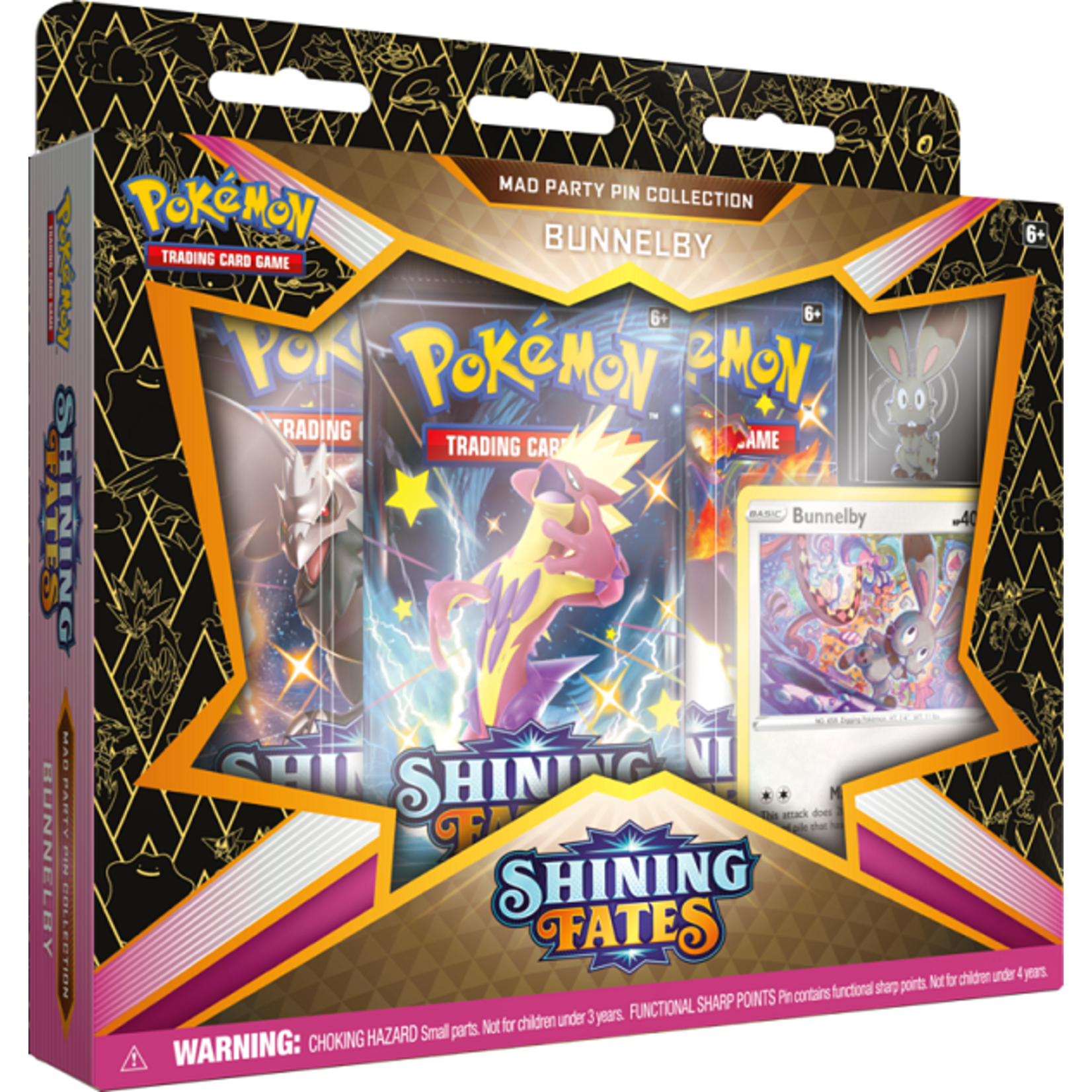 Pokemon Pokemon Shining Fates Party Pin Collection - Bunnelby