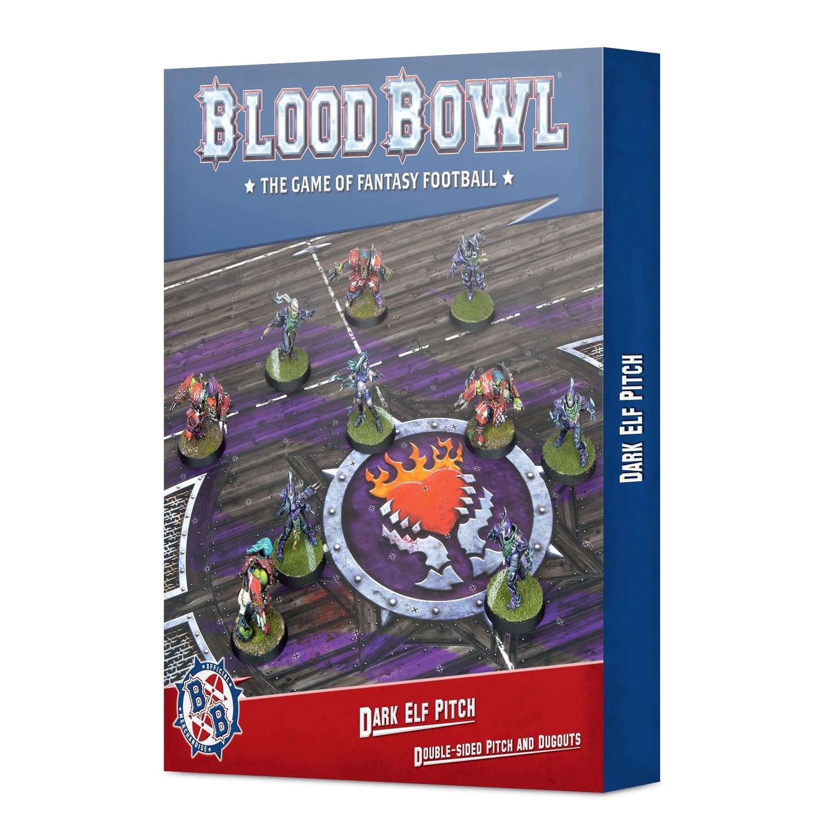 Blood Bowl BloodBowl - Dark Elf Pitch & Dugouts