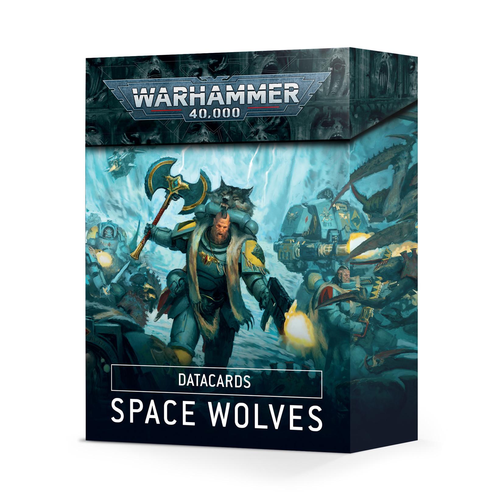 Warhammer 40K Datacards : Space Wolves (English)