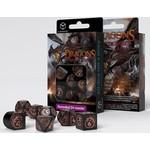Q Workshop Dragons Modern Dice Set Black/Copper