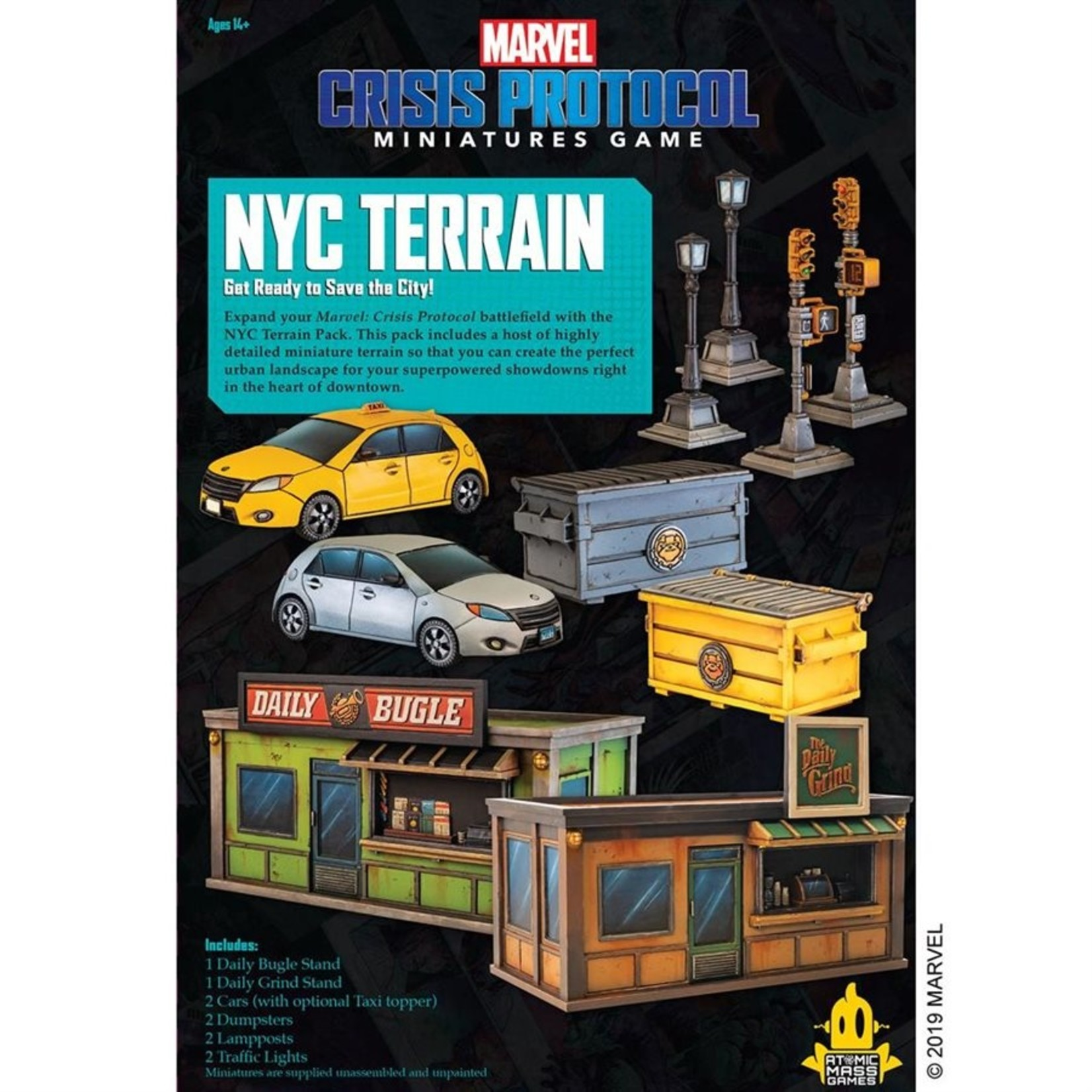 Atomic Mass Game Marvel Crisis Protocol - Nyc Terrain Pack