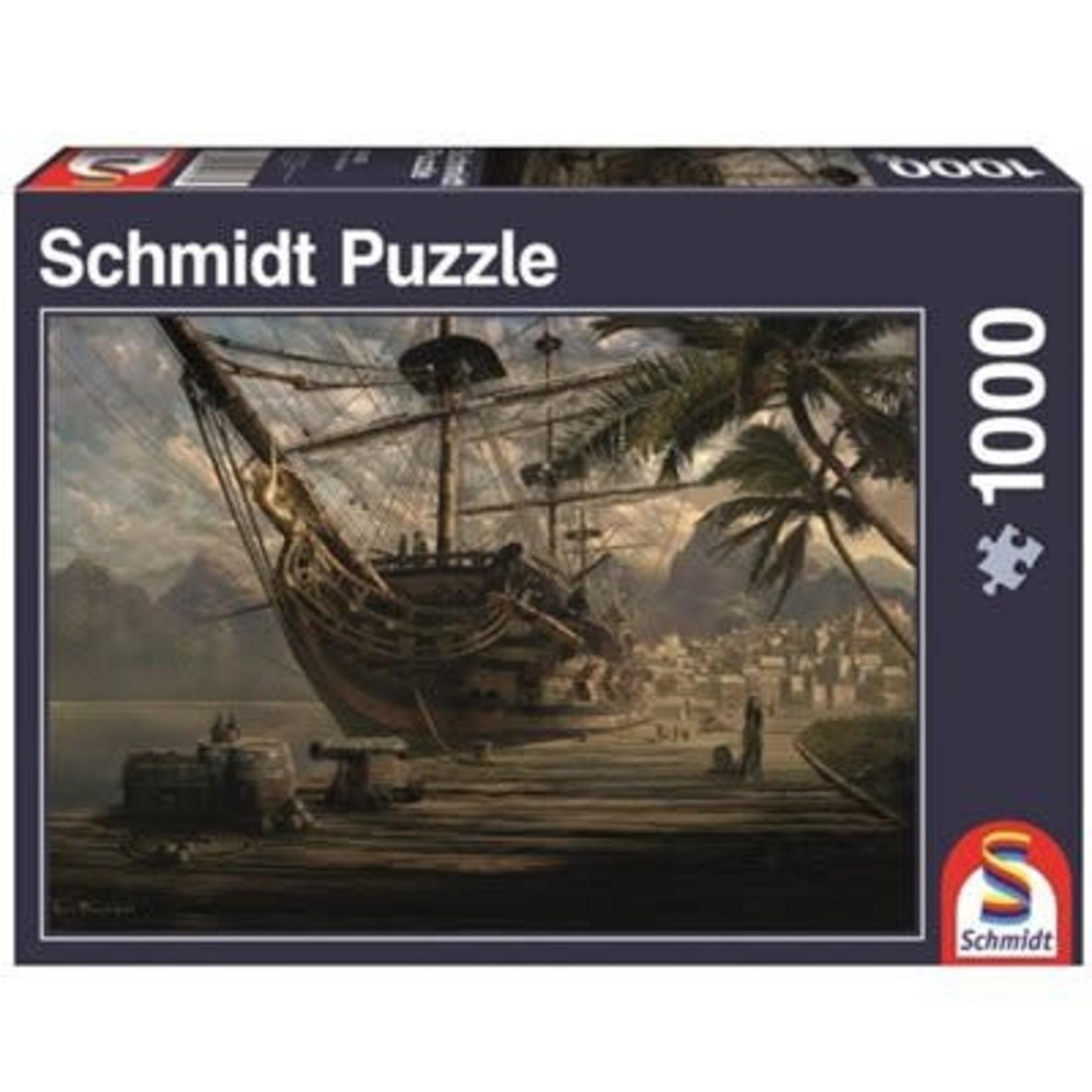 schmidt Ship at Anchor