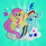 Diamond Dotz Mon Petit Poney - Fluttershy & Rainbow Dash