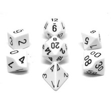 Set 7D Poly White with black numbers