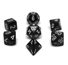 Set 7D Poly Black with white numbers
