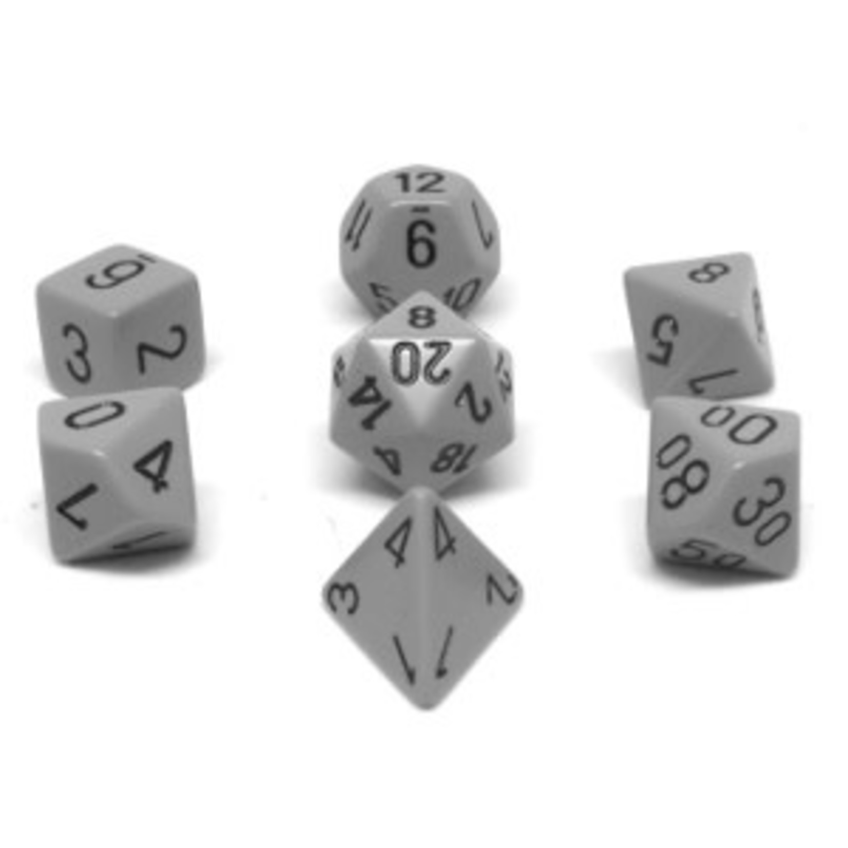 Chessex Set 7D Poly Dark Grey with black numbers