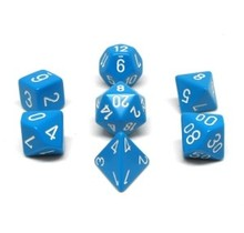 Set 7D Poly Pale Blue with white numbers