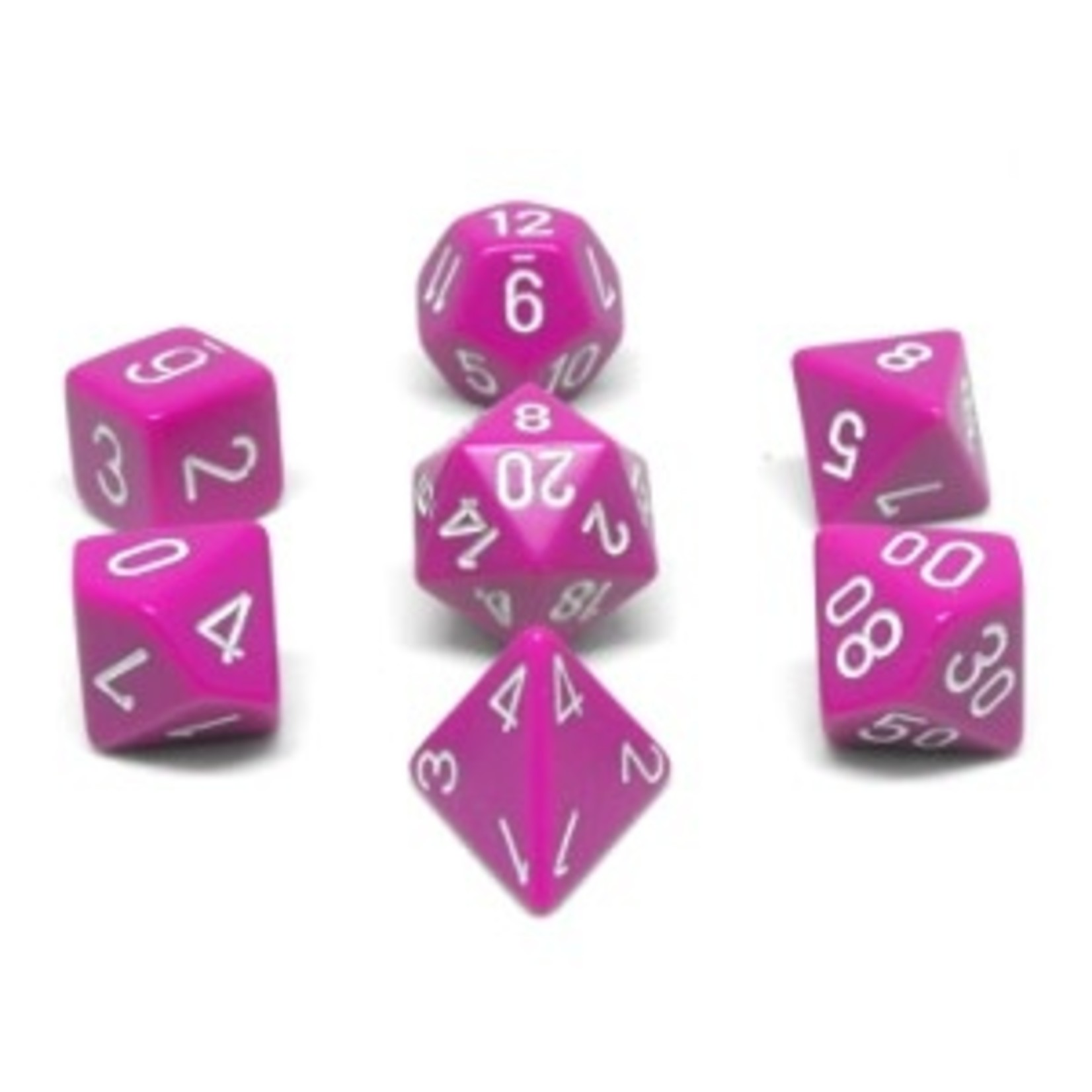 Chessex Set 7D Opaques pale Violet with white numbers