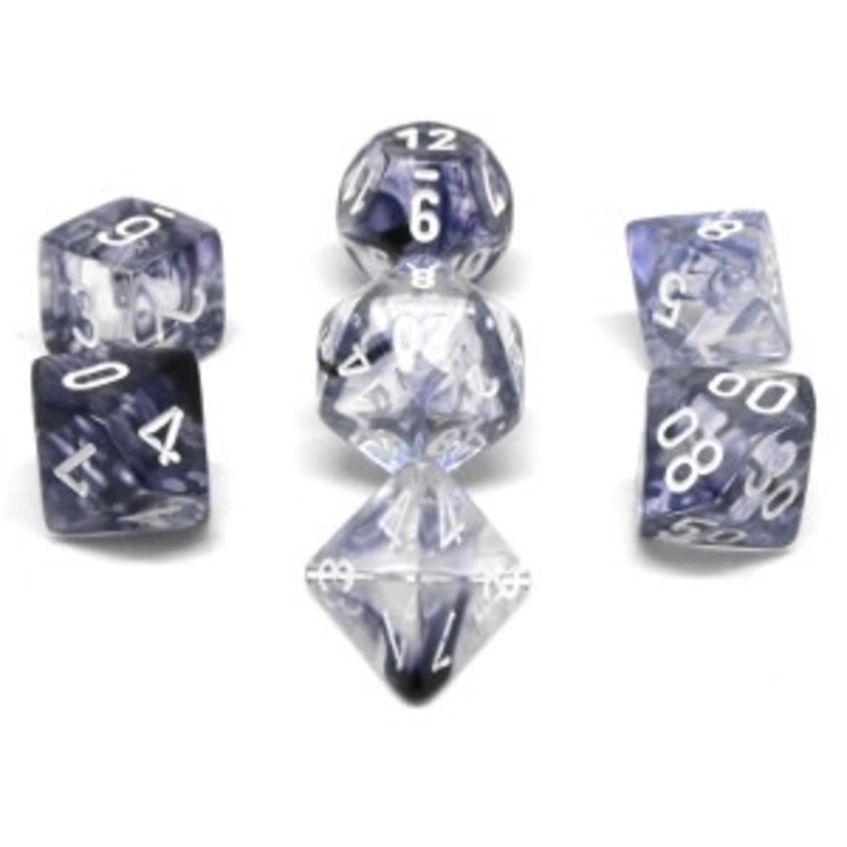 Chessex Set 7D Poly Nebula Black/white