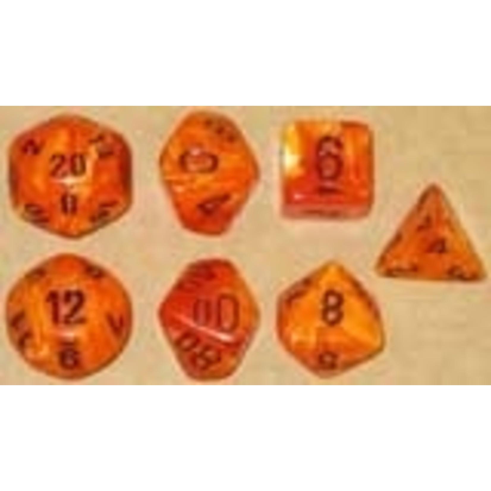 Chessex Set 7D Poly Vortex Orange/Black