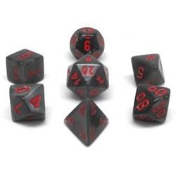 Set 7D Poly Black Velvet/Red