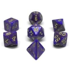 Set 7D Poly Lustrous Violet/Gold