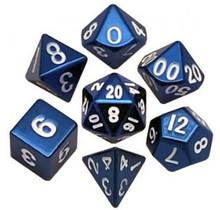 Set 7D Poly Metallic Blue/White