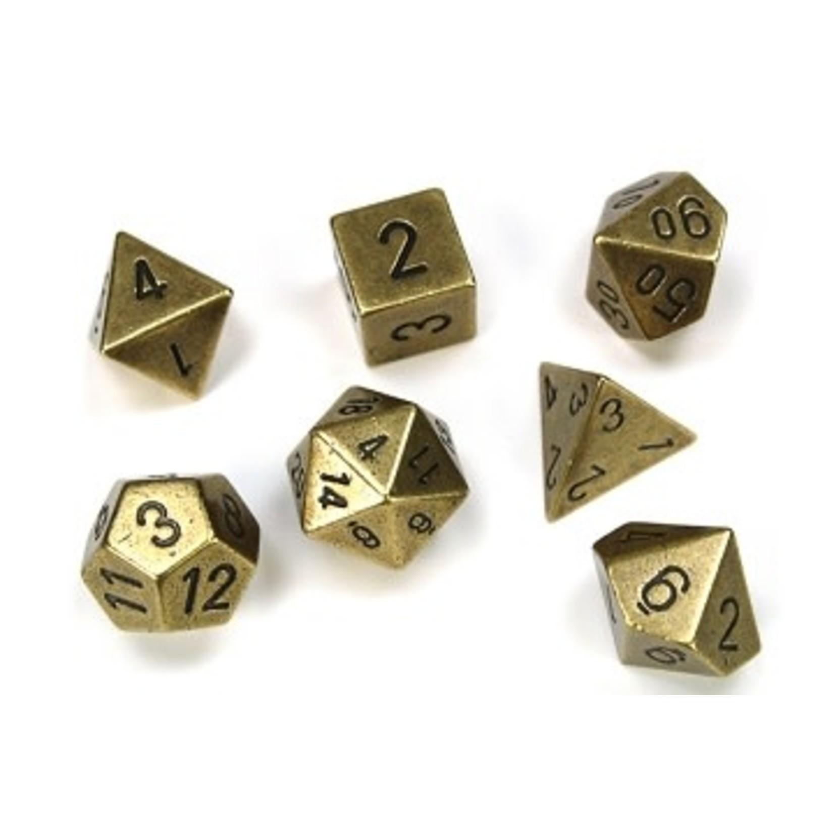 Chessex Set 7D Metal Brass