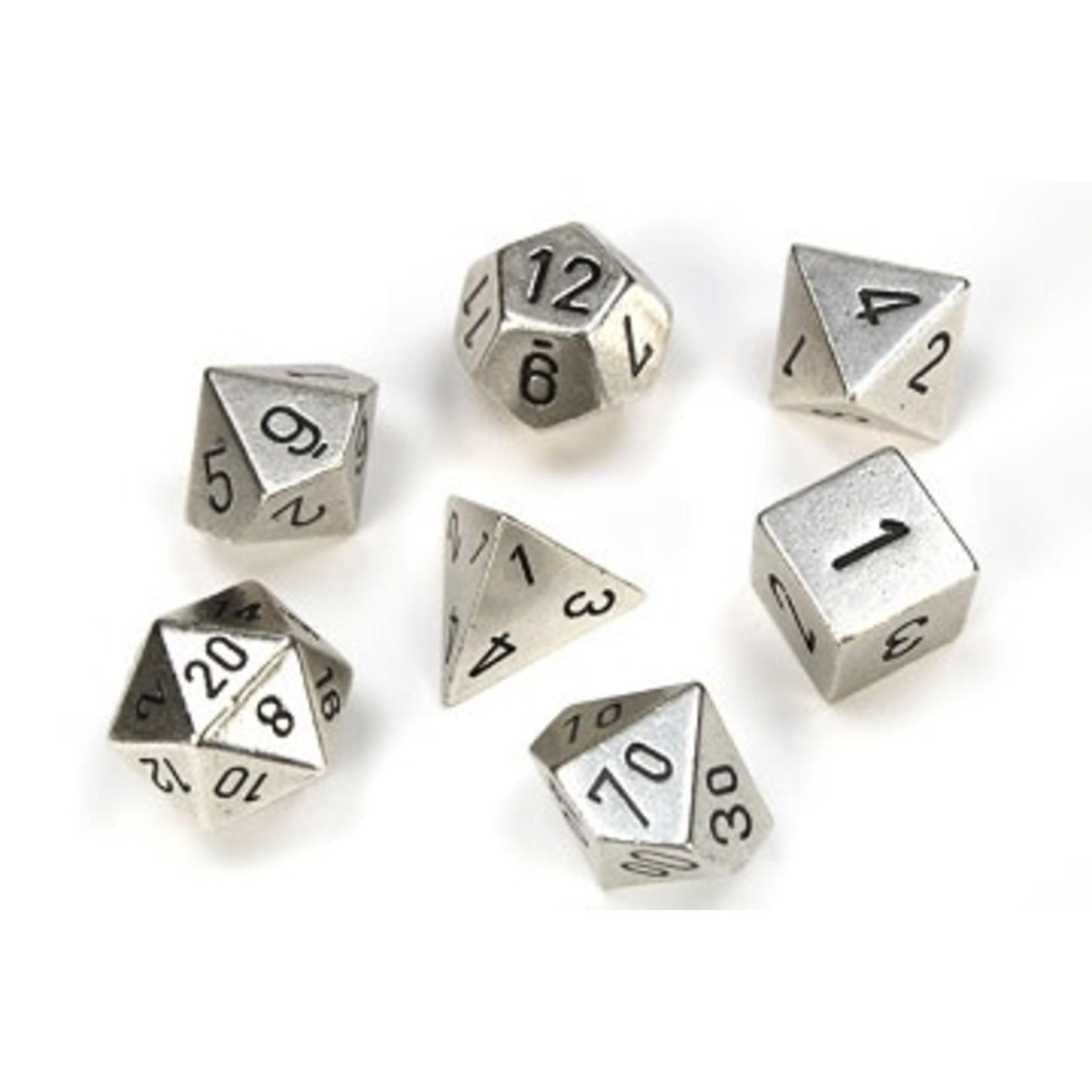 Chessex Set 7D Metal Silver