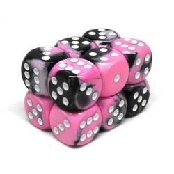 Brick 12 D6 Gemini Black-Pink/White