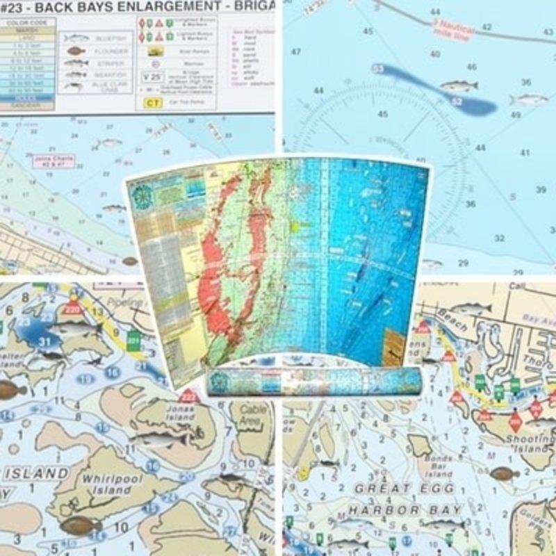 Home Port Charts Home Port Chart #23 Back Bays Enlargement Brigatine to GE Inlet