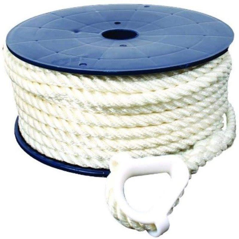 Invincible Marine Invincible Anchor Line 1/2x150' 3-Strand Nylon