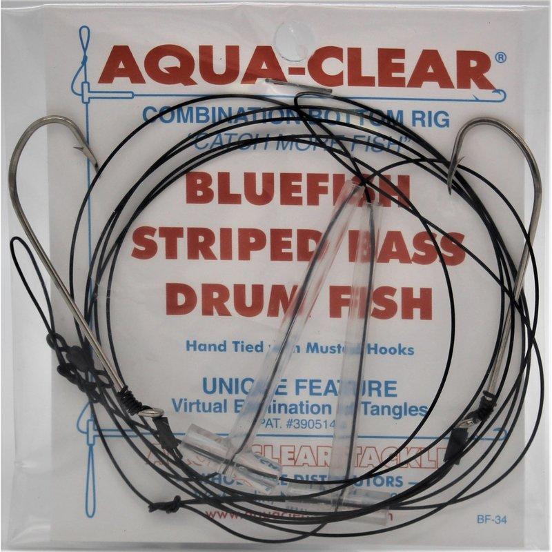 Aqua-Clear Tackle Aqua-Clear B-2A Bluefish Rig Hi-Lo 3/0 Hooks #40 Wire