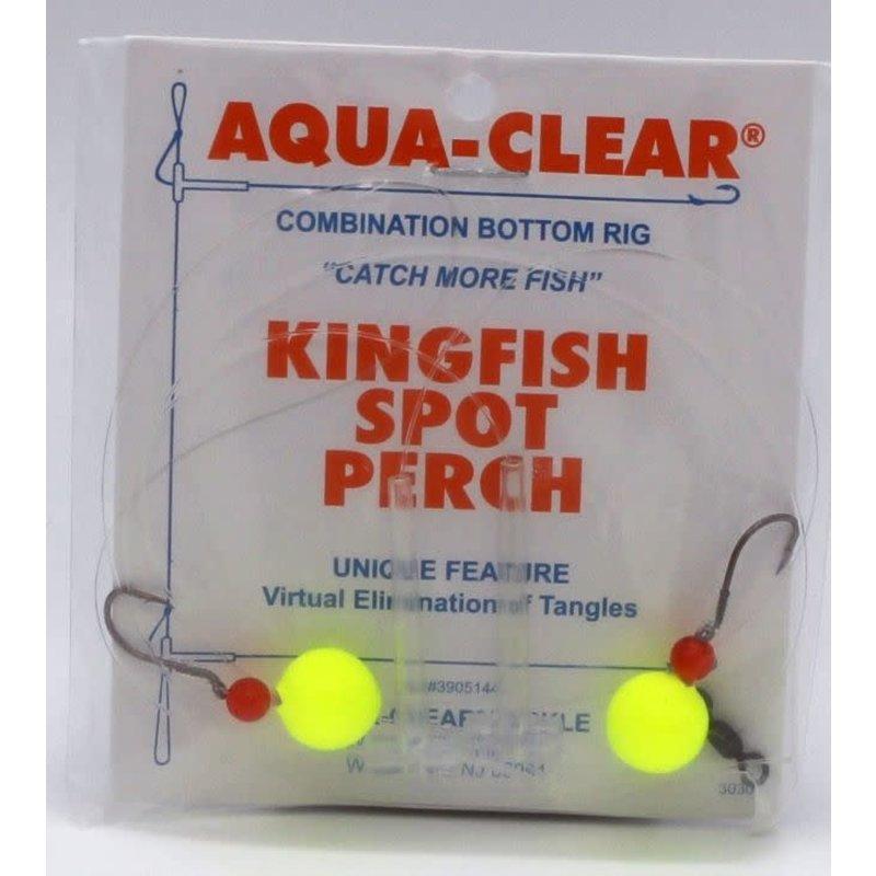 Aqua-Clear Tackle Aqua-Clear KF-4 Hi/Lo Kingfish/Spot/Perch #4 Black Nickel Octopus Hooks w/Chartreuse Floats Rig