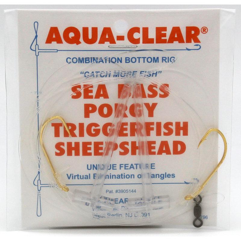 Aqua-Clear Tackle Aqua-Clear SP-1 Hi-Lo Sea Bass/Porgy Rig - 1/0 Gold Beak Hooks