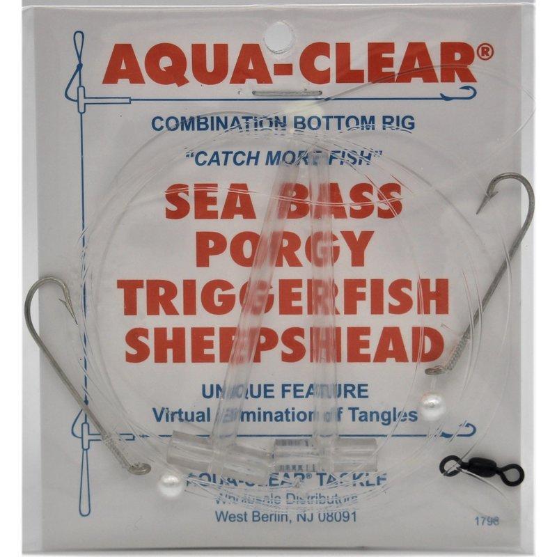 Aqua-Clear Tackle Aqua-Clear SP-26P Hi-Lo Sea Bass/Porgy Rig - #6 Long Shank Hooks w/Pearl Beads