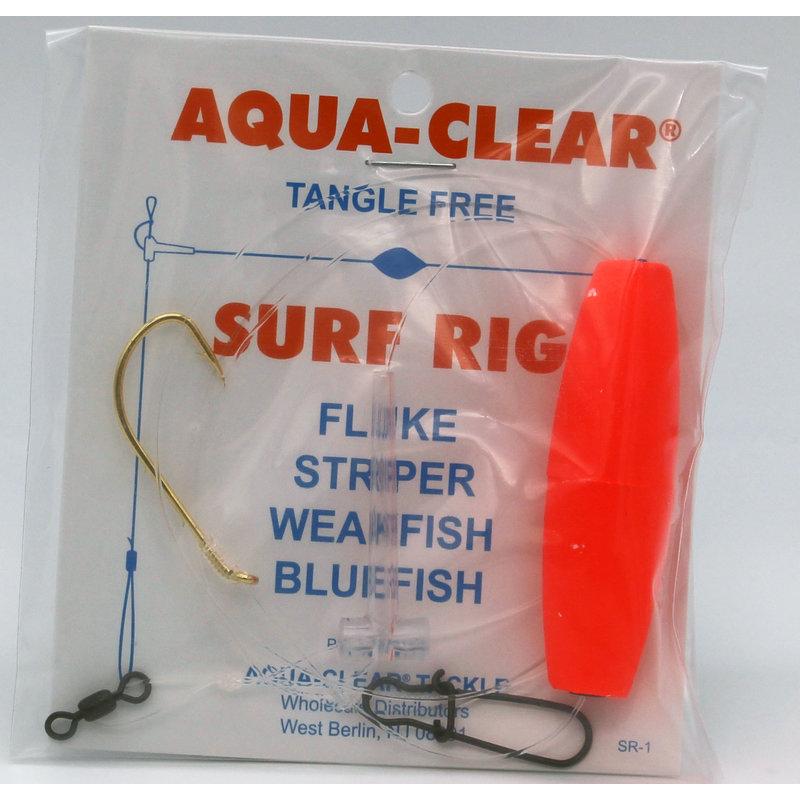 Aqua-Clear Tackle Aqua-Clear SR-1 Surf Rig - 3/0 Gold Beak Hook  & Red Float