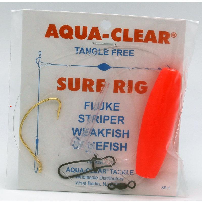 Aqua-Clear Tackle Aqua-Clear SR-1A Surf Rig - 3/0 Gold Wide Gap Hook & Red Float