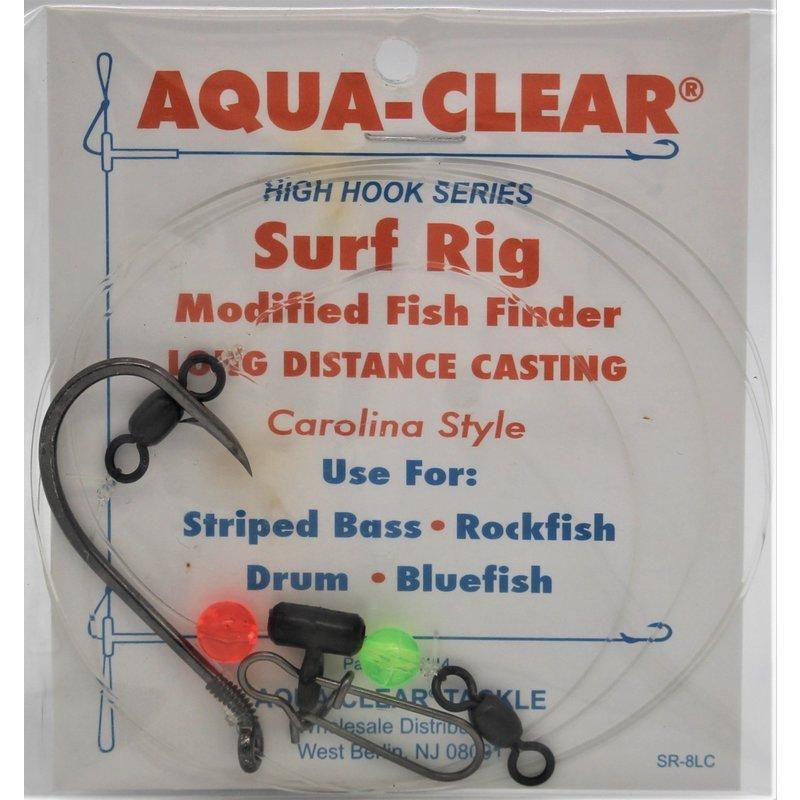 Aqua-Clear Tackle Aqua-Clear SR-8LC Long Cast Surf Rig - 8/0 Black Nickel Octopus Hook w/Modified Fish Finder