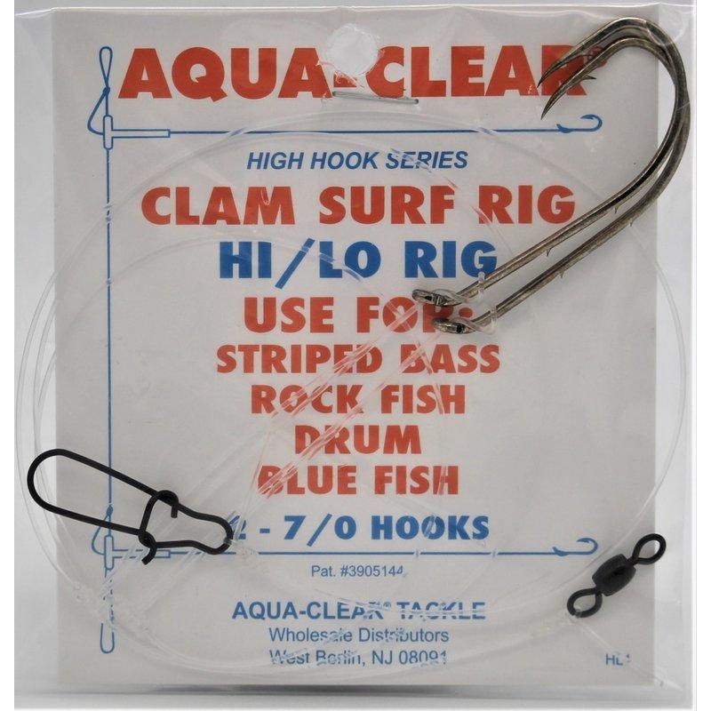 Aqua-Clear Tackle Aqua-Clear ST-2H Striped Bass Hi/Lo Clam Rig w/7/0 Bronze Bait Holder Hooks