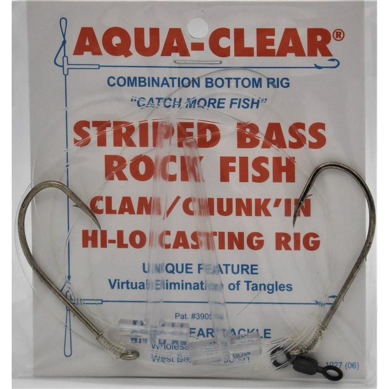 Aqua-Clear Tackle Aqua-Clear ST-8 Hi/Lo Striped Bass 6/0 Bronze Baitholder Hooks Rig