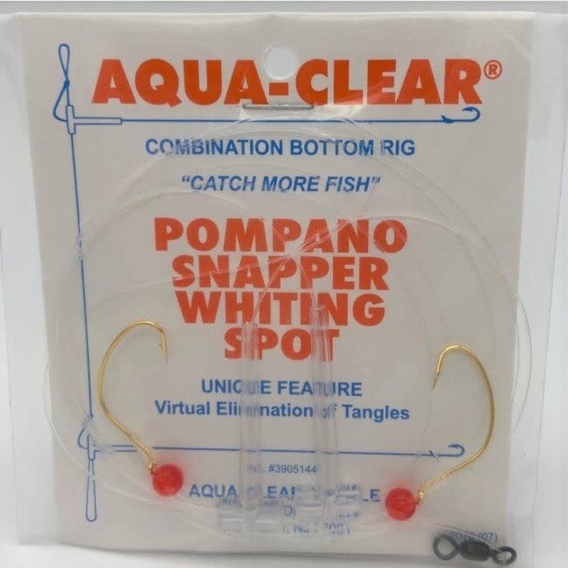 Aqua-Clear Tackle Aqua-Clear PS-1 Pompano/Snapper Hi-Lo #4 Wide Gap Hooks Rig