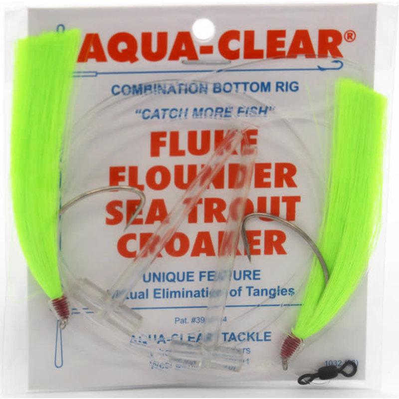 Aqua-Clear Tackle Aqua-Clear Fluke/Weakfish Hi-Lo Rig w/Double Fishair & 3/0 Nickel Wide Gap Hooks