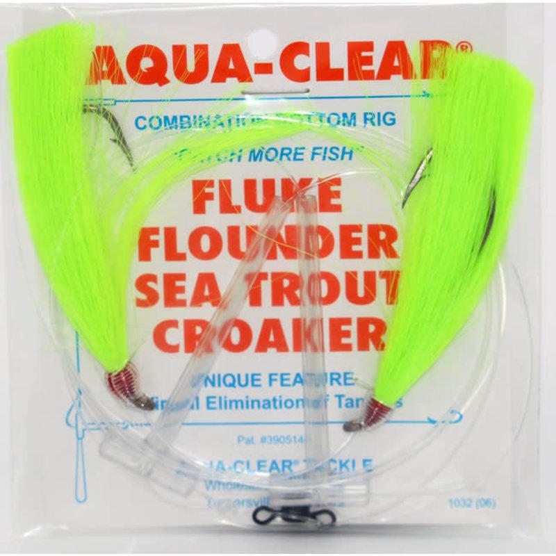 Aqua-Clear Tackle Aqua-Clear Fluke/Weakfish Hi-Lo Rig w/Double Fishair & 3/0 2X Long Shank hooks