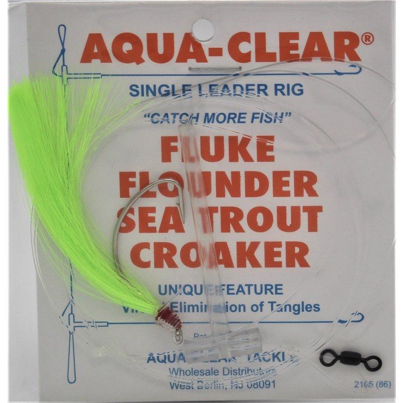 Aqua-Clear Tackle Aqua-Clear Fluke/Weakfish 3/0 Single Nickel Wide Gap Hook w/Fishair Rig