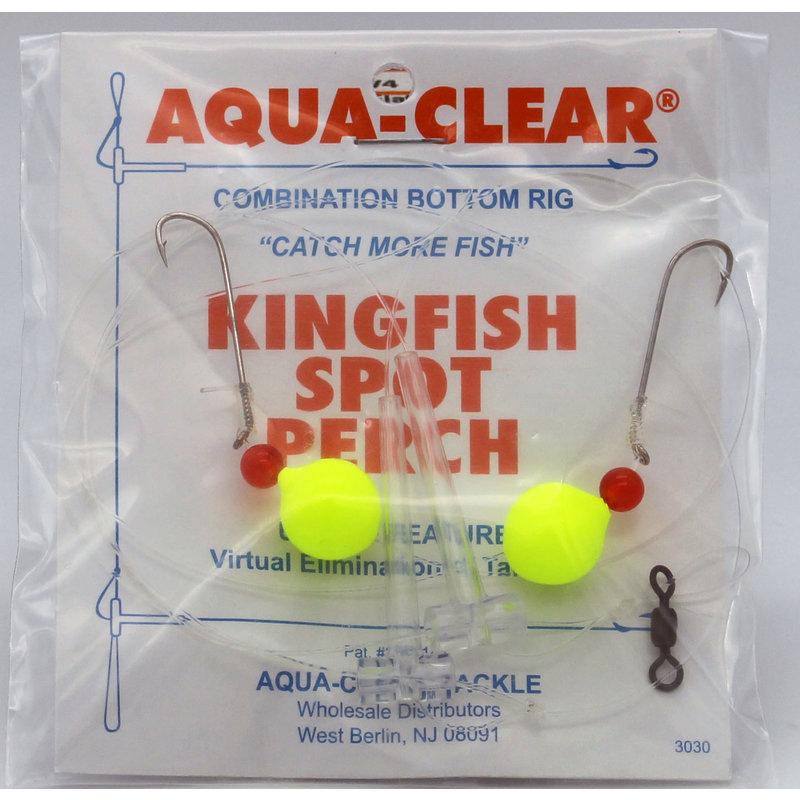 Aqua-Clear Tackle Aqua-Clear Kingfish/Spot/Perch Hi-Lo Rig w/Floats #8 Long Shank Hooks