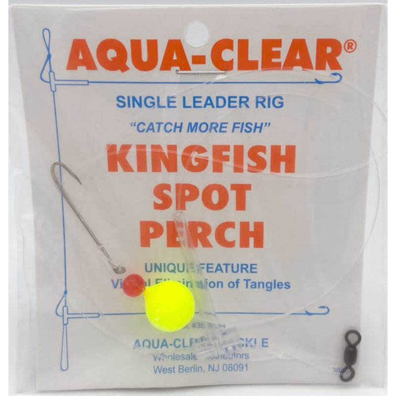 Aqua-Clear Tackle Aqua-Clear Kingfish/Spot/Perch Single #8 Long Shank Hook Rig w/Float