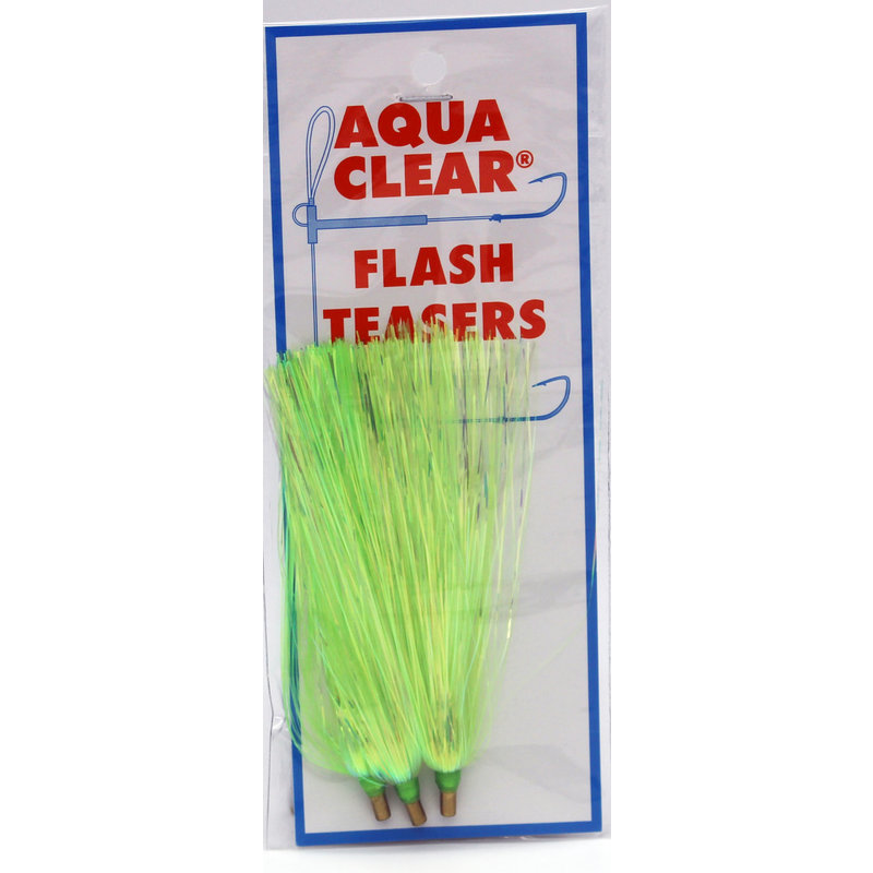 Aqua-Clear Tackle Aqua-Clear Mylar Flash Teaser 3pk