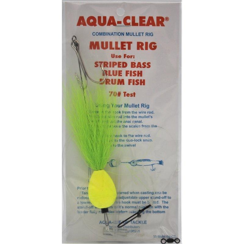 Aqua-Clear Tackle Aqua-Clear Mullet Rig w/Float & Hair