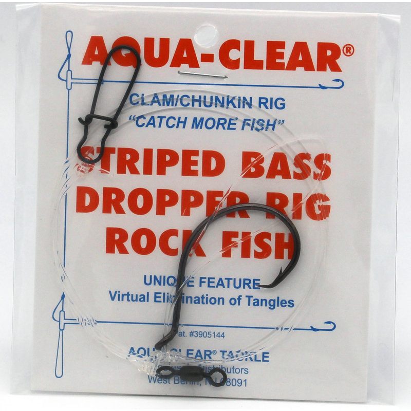 Aqua-Clear Tackle Aqua-Clear Striped Bass Circle Hook Clam Dropper Loop Surf Rig
