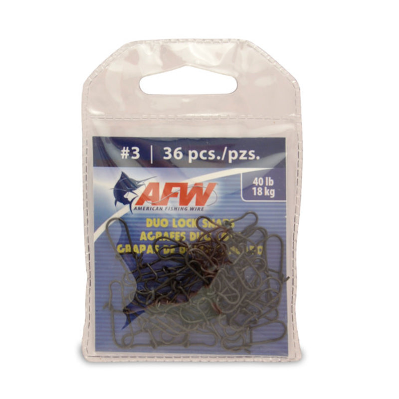 American Fishing Wire AFW Duo Lock Snaps - Black
