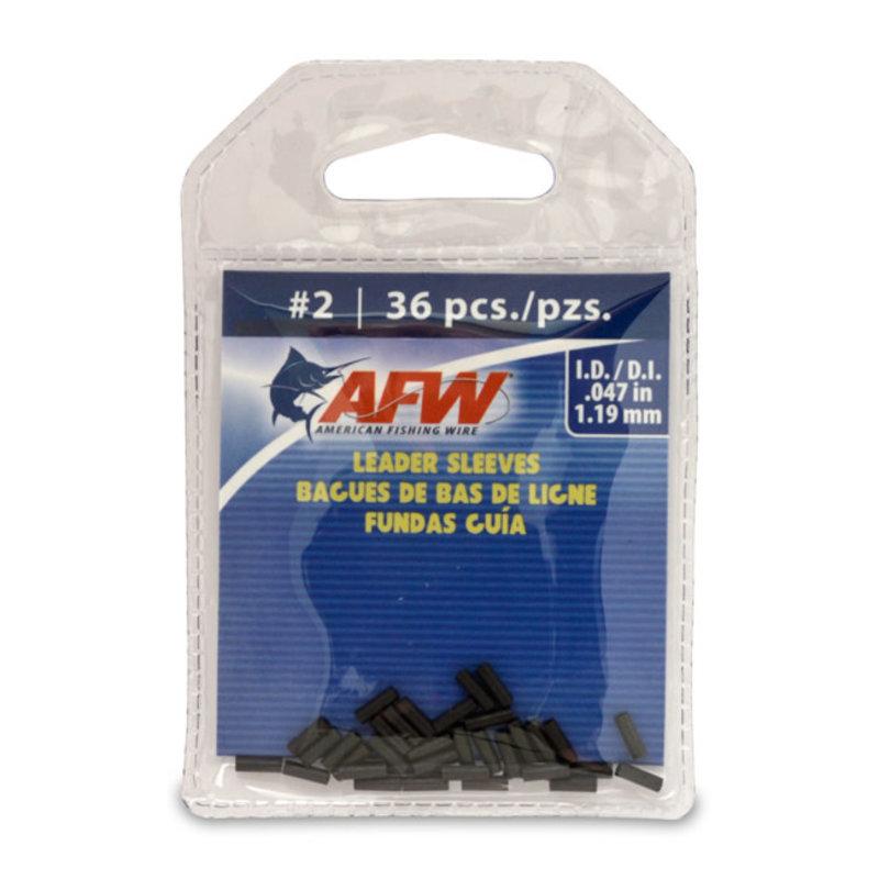 American Fishing Wire AFW Single Barrel Leader Sleeves - Black
