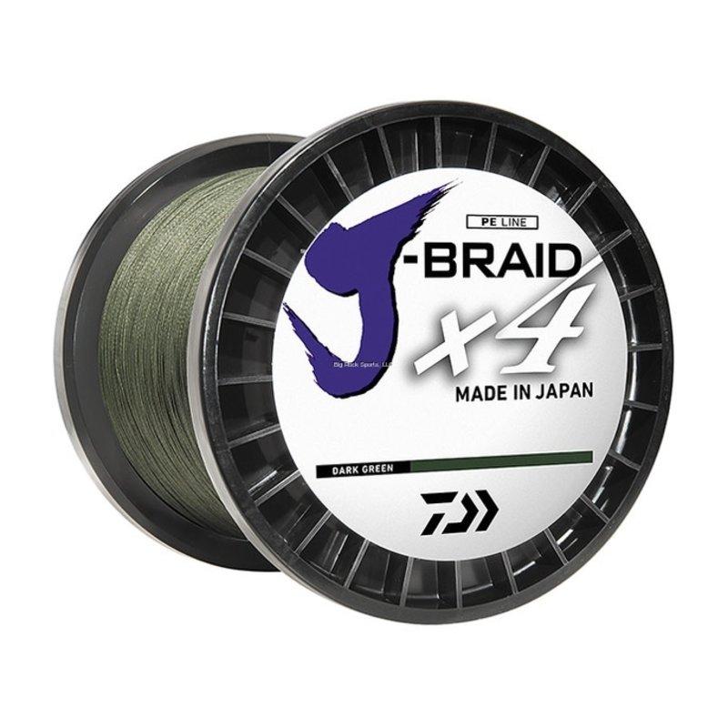 Daiwa Daiwa J-Braid X4 3000yd Spool Braided Line