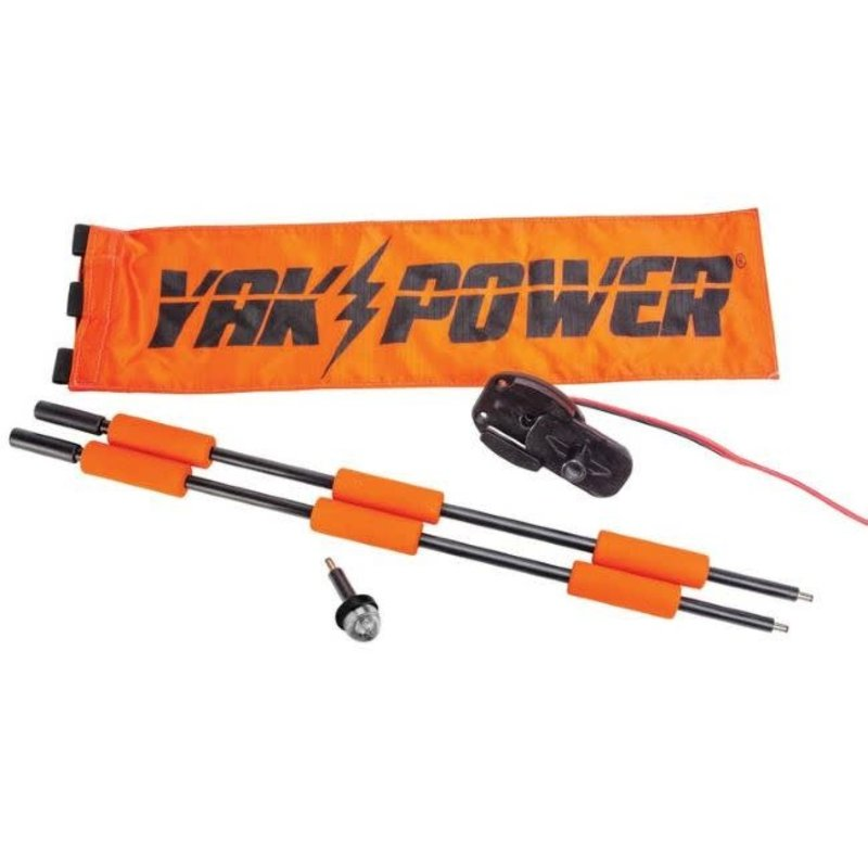 Yak-Power Yak-Power Lightning Rod - Extendable Powered 360 Degree Safety Light and Safety Flag