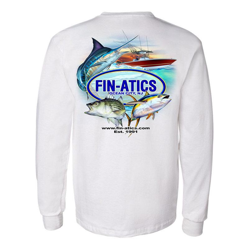 Fin-atics Fin-atics Classic Logo Men's Long Sleeve T-Shirt w/Pocket