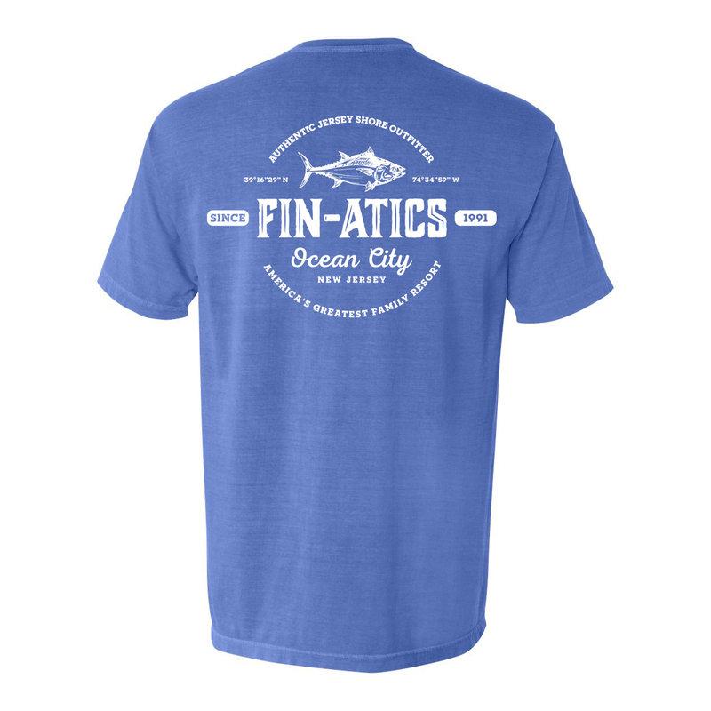 Fin-atics Fin-atics Lat/Lon Garment Dyed Men's Short Sleeve T-Shirt