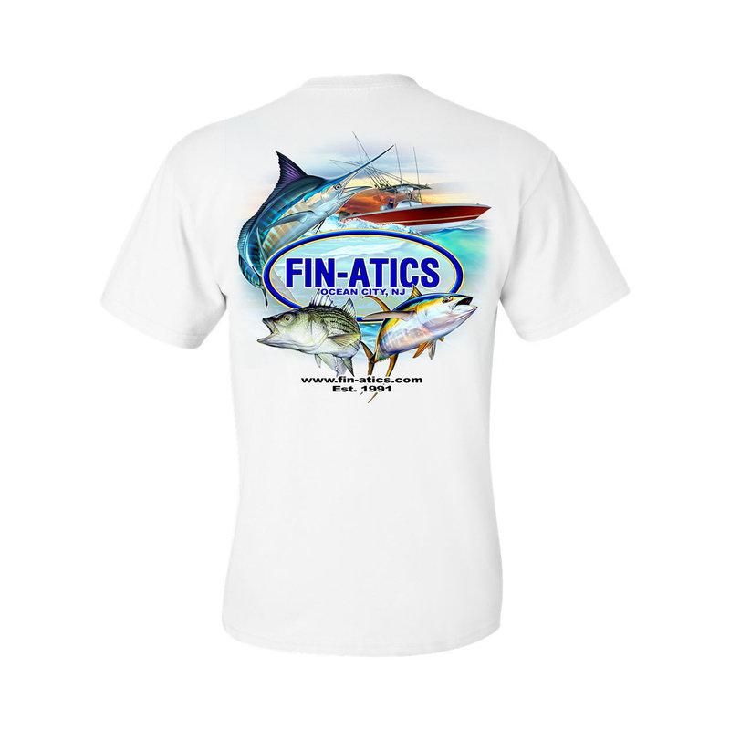 Fin-atics Fin-atics Classic Logo Men's Short Sleeve T-Shirt w/Pocket