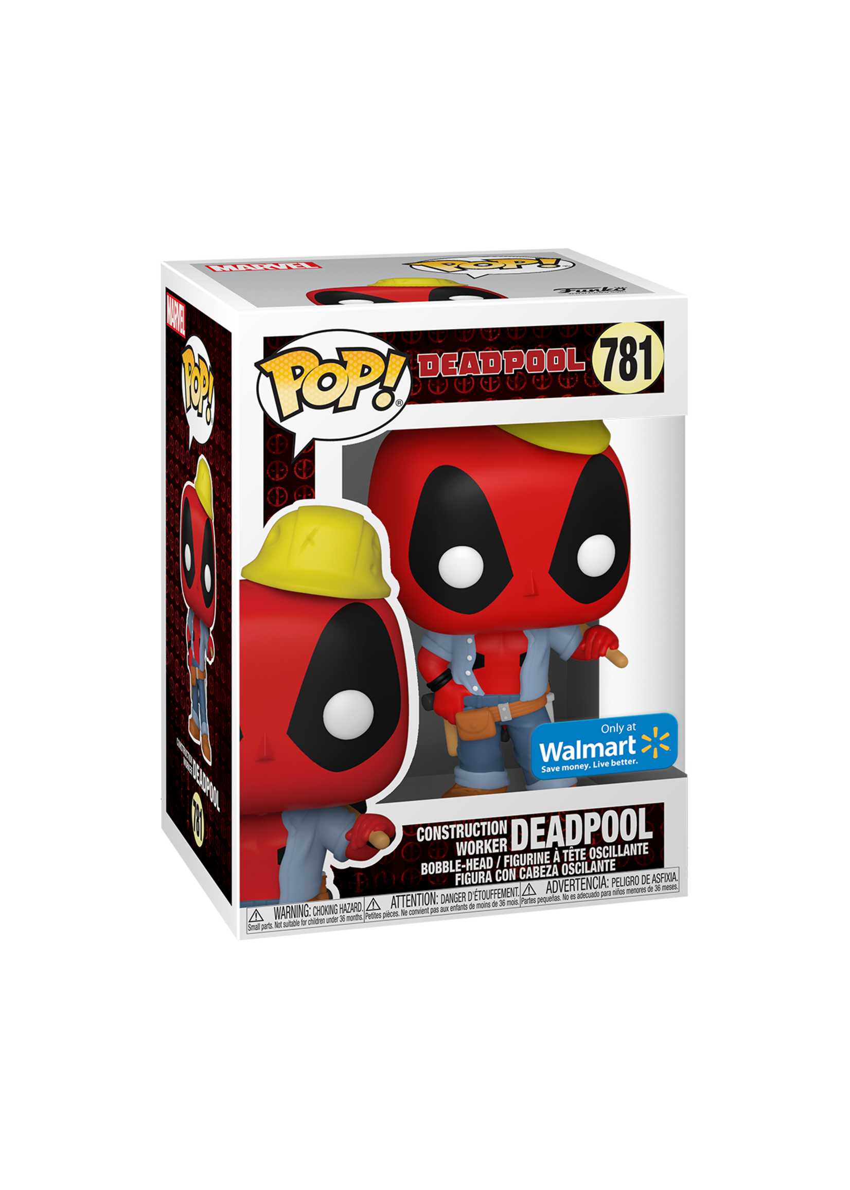 Construction Worker Deadpool Pop