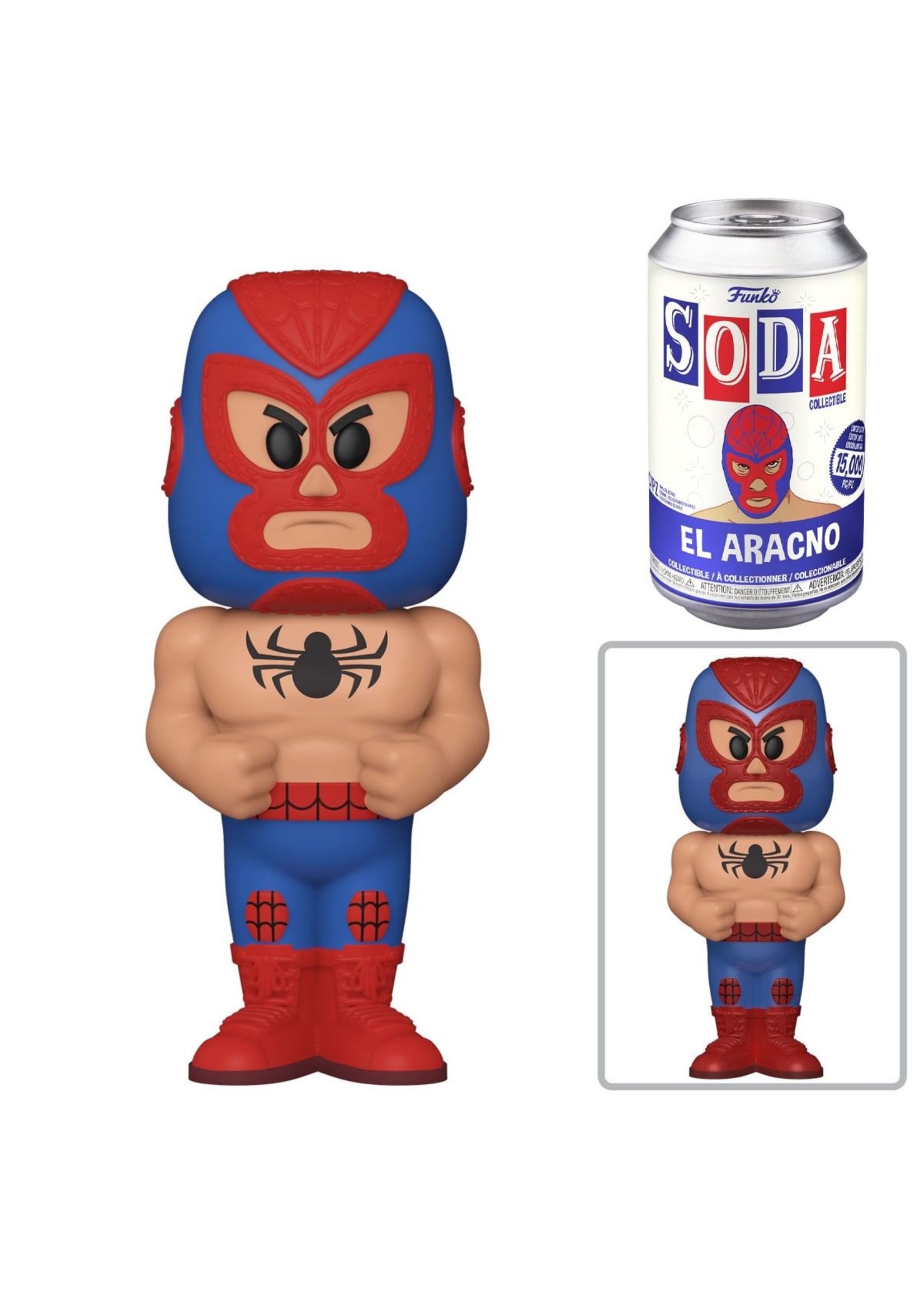 Luchadores Spiderman Soda Pop Chance Of Chase